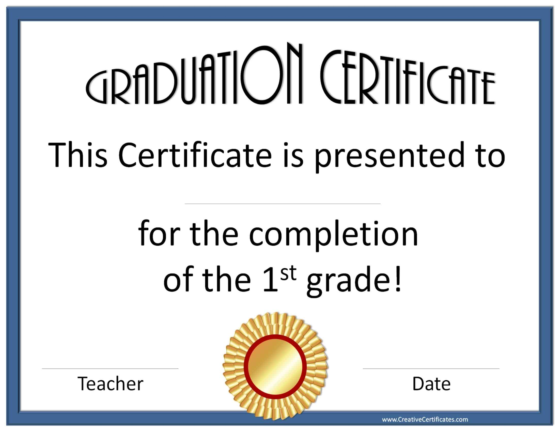 Free Graduation Certificate Templates – Sample Graduation Certificate