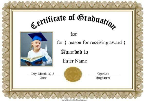 kindergarten diploma template word