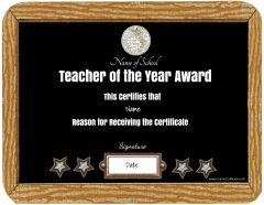 chalkboard certificate with text that can be customized
