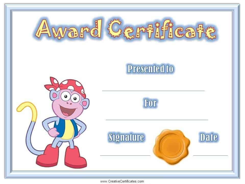 Certificates for Kids – Certificate of Achievement for Kids