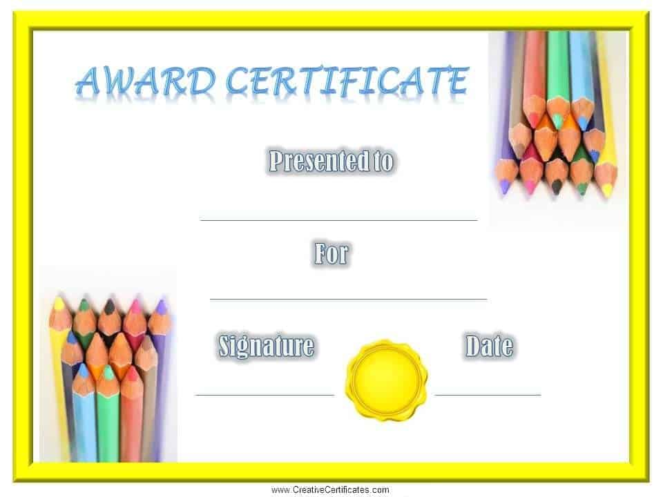 Childrens Certificates free and customizable – School Certificate Template
