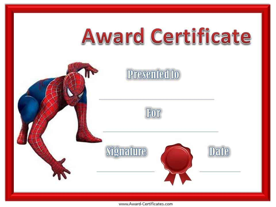 ... award certificate template to reward them for a job well done