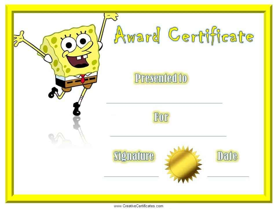 Childrens Certificates free and customizable – Blank Award Templates