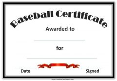 blank template certificate with black border and red ribbon