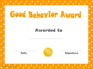 Certificate for kids