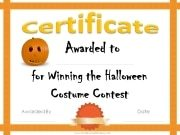 prize for winner of Halloween costume contest