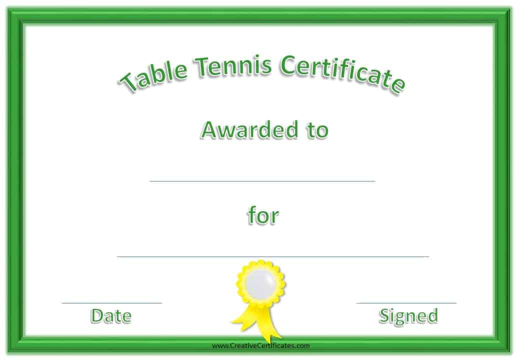 ping pong    table tennis award