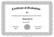 certificate of graduation