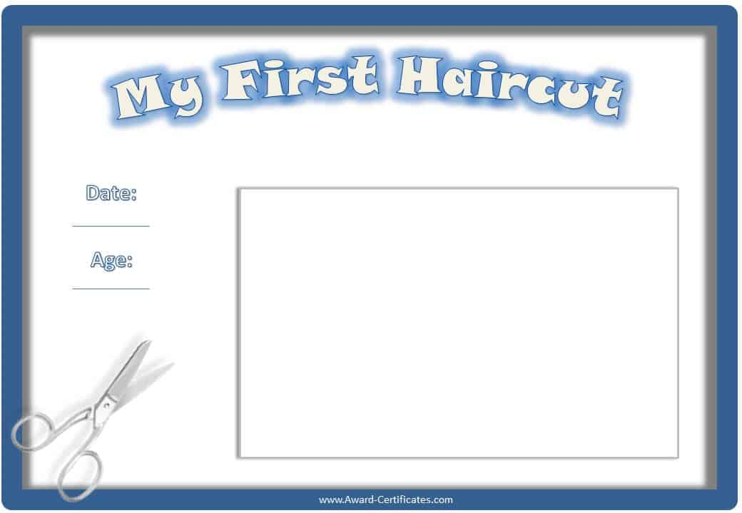 Haircut certificate template 28 images haircut for My first haircut certificate template