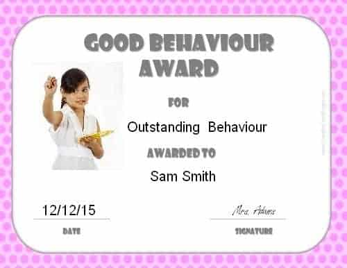 Good behaviour certificate