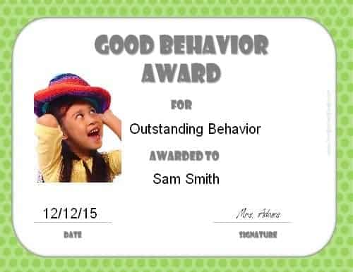 Good behavior award