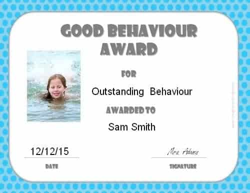 Certificate for kid