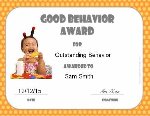 Good behavior certificate