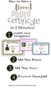 How to use the Certificate Maker step by step (4 steps) with 3 sample certificates made using this method
