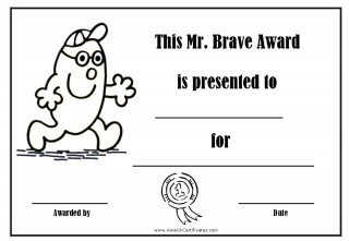 certificate for bravery