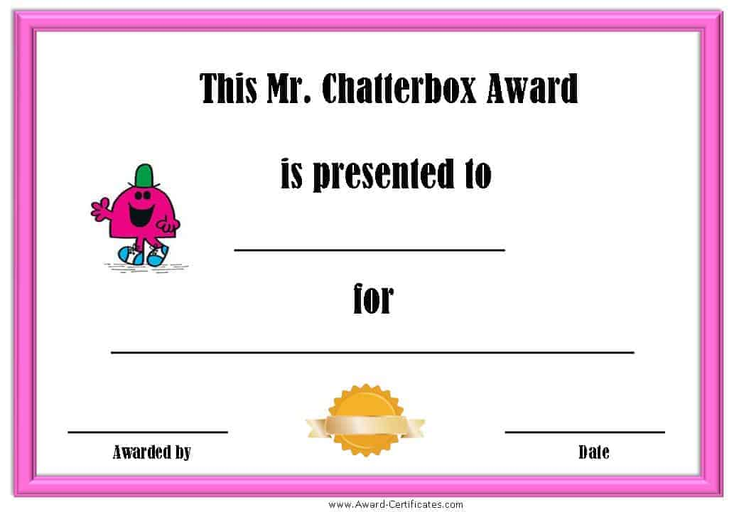 award certificate for someone