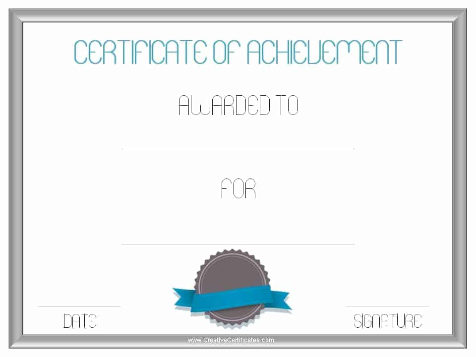 Certificate of Achievement Template – Template Certificate of Achievement