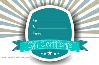 gift certificate template with stripes and stars