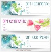 3 gift certificate templates on one page