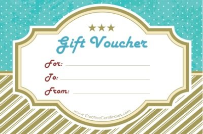Gift Voucher Template – Fillable Gift Certificate Template