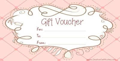 Free Printable Gift Voucher Templates: www.creativecertificates.com/gift-voucher-template