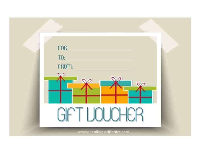 Gift Voucher Template – Free Printable Gift Voucher