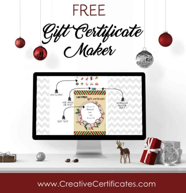 Free Christmas Gift Certificate Template  Customize