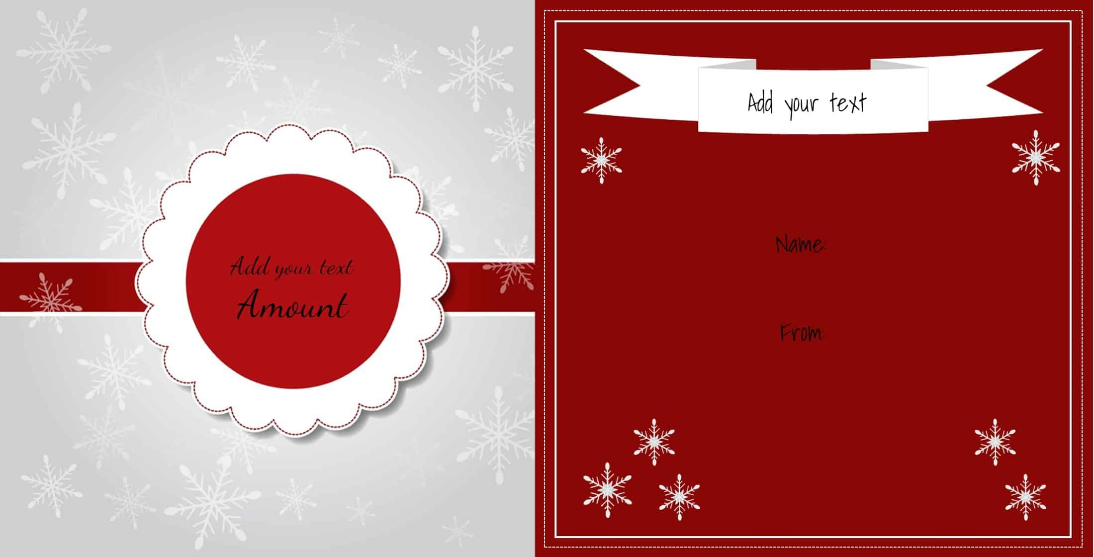 Christmas gift certificate templates for Holiday gift certificate templates