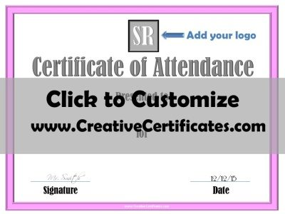 Business Certificate of Attendance