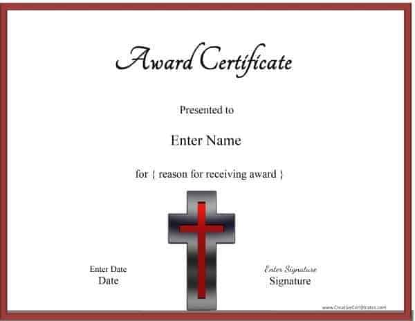 Christian Certificate Template Customizable – Baby Dedication Certificates Templates