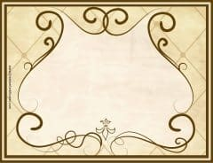 Gold border with brown outline