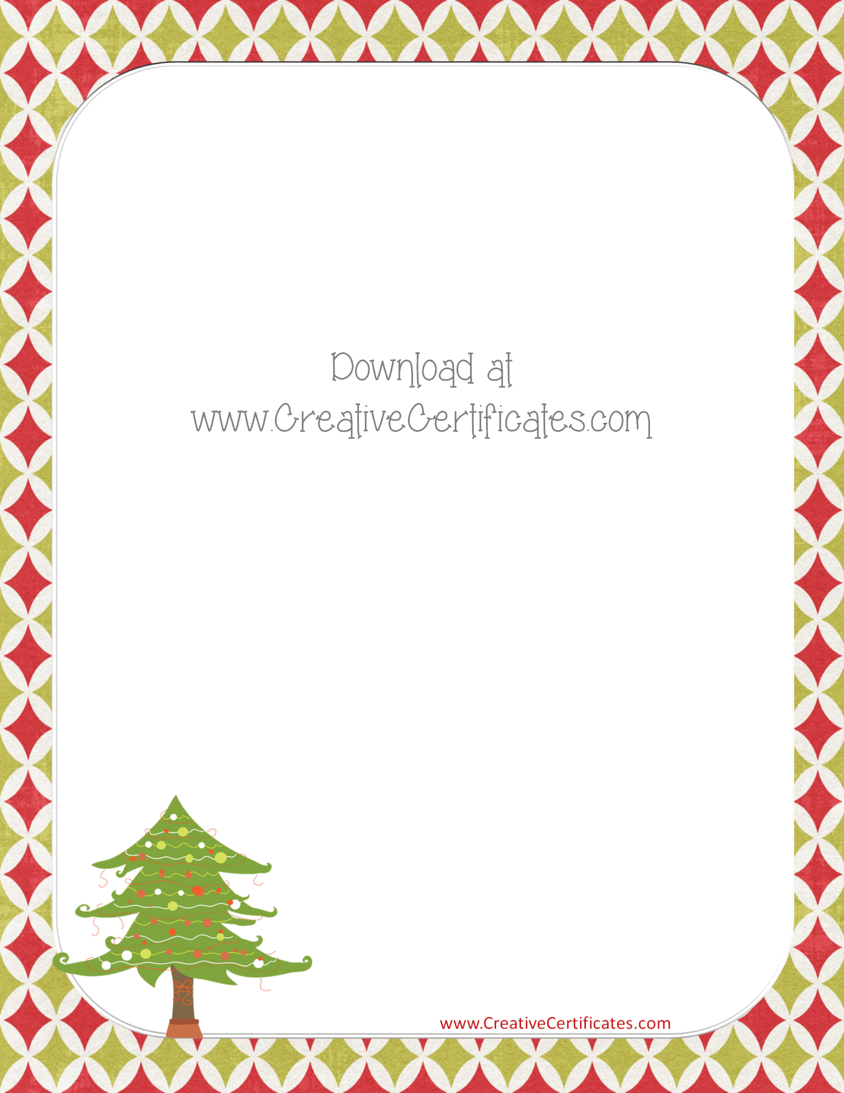 christmas certificates templates for word – Free Christmas Templates for Word