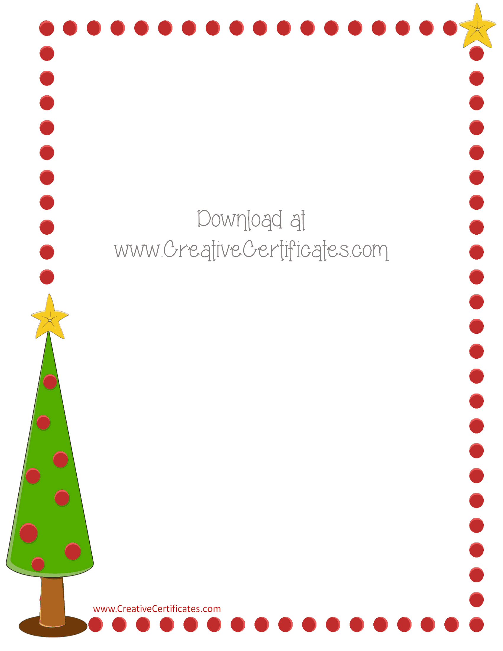 Free christmas border templates customize online or