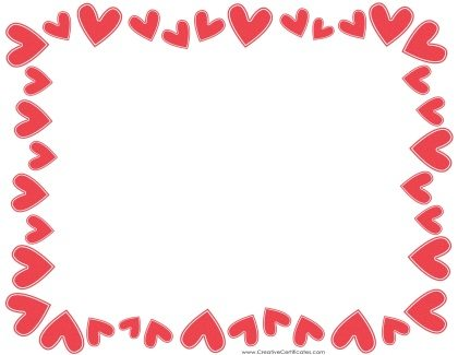 or images if you want to print an empty heart border then erase the ...