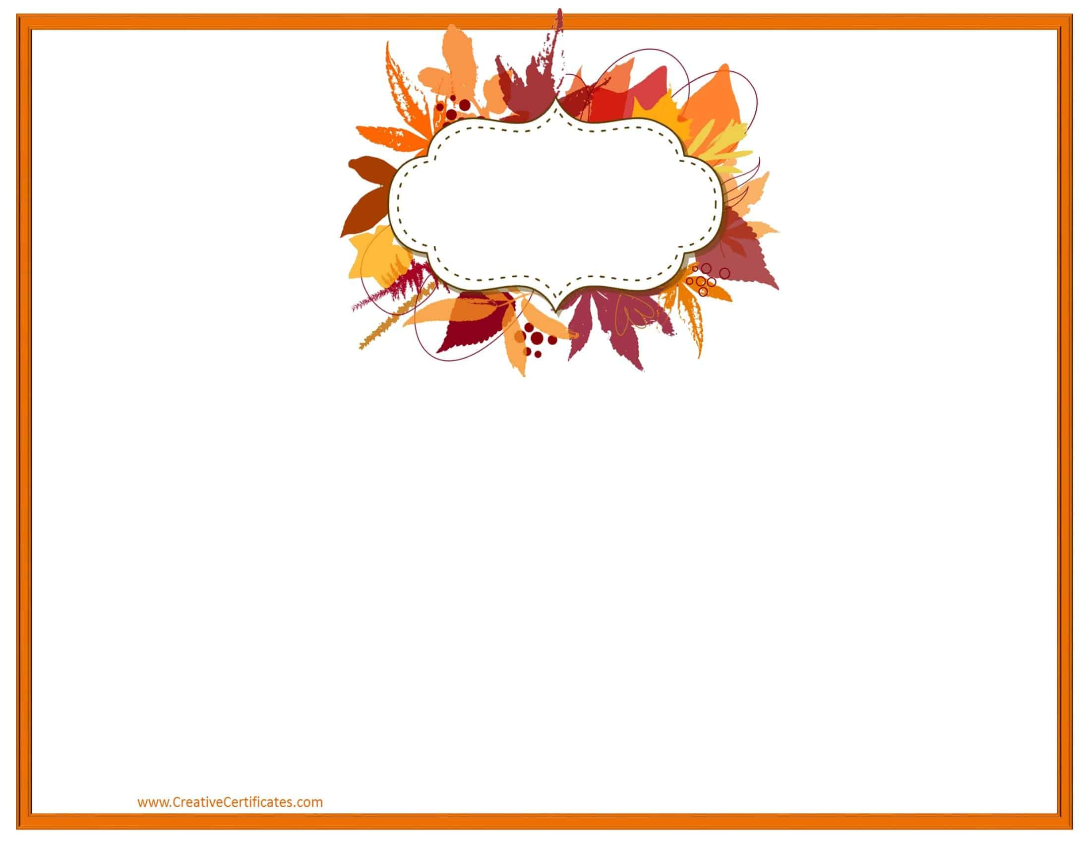 Thanksgiving borders clipart free