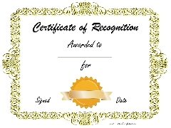 clip art gold border with gold ribbon