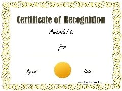 sample recognition award