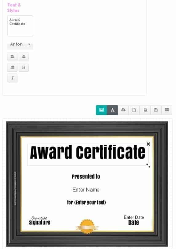 How to change the title of your certificate template