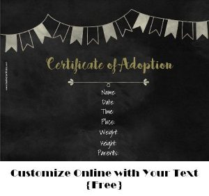adoption announcement on chalkboard background