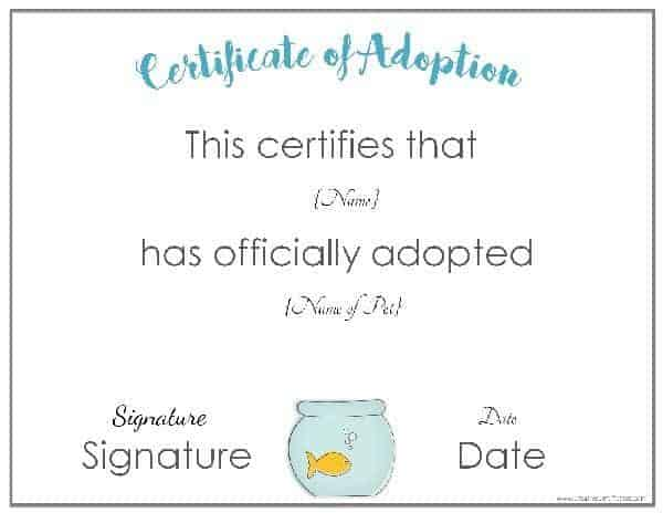 Free Adoption Certificate Template - Customize Online