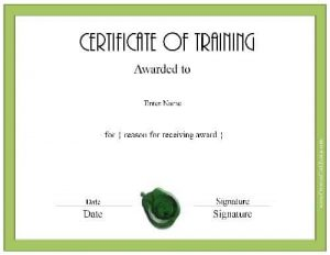 Participation in training