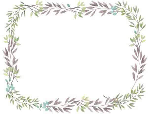 flowers word border templates free