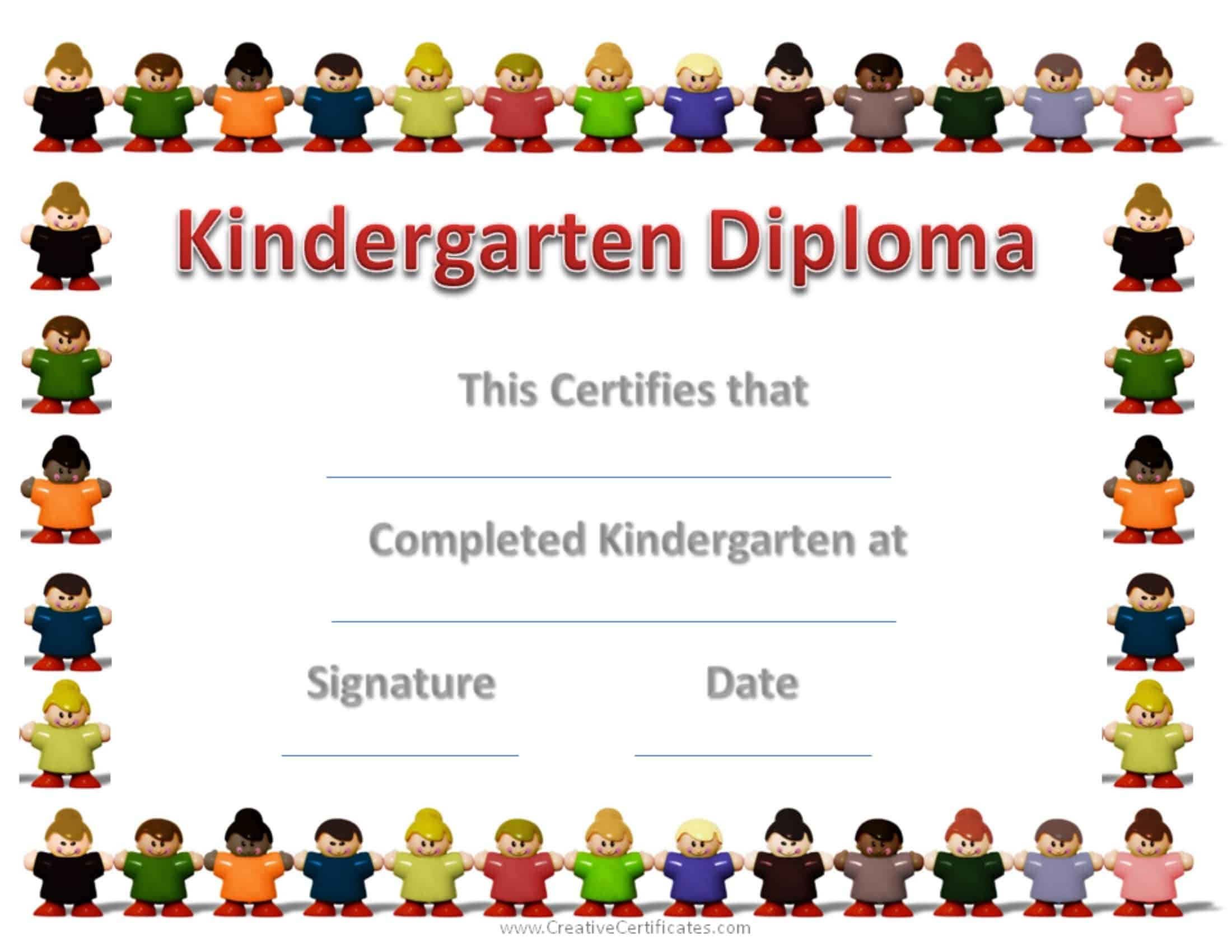 kindergarten diploma template sample certificate of graduation for