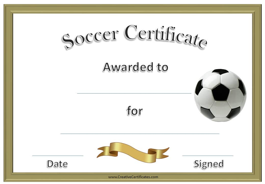 free editable soccer certificates