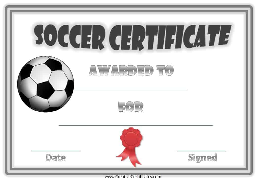 Smart image throughout printable soccer certificates