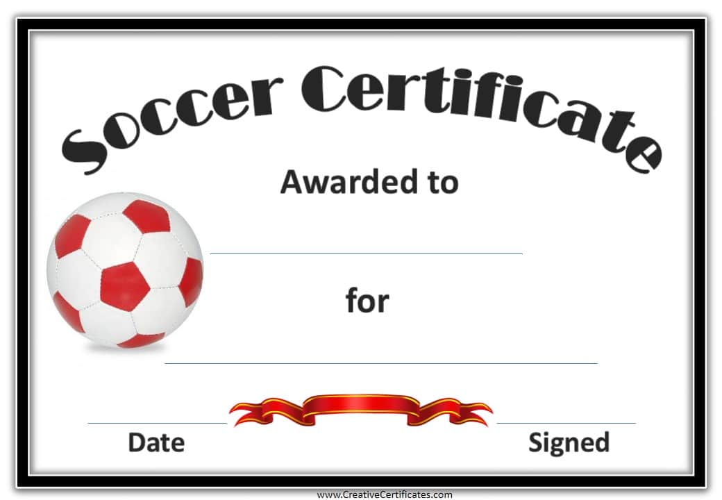 Sassy image within printable soccer certificates
