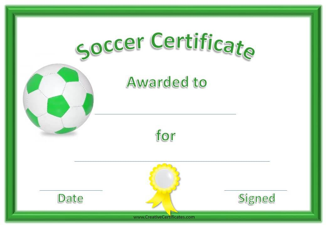 Free Editable Soccer Certificates - Customize Online - Instant Download