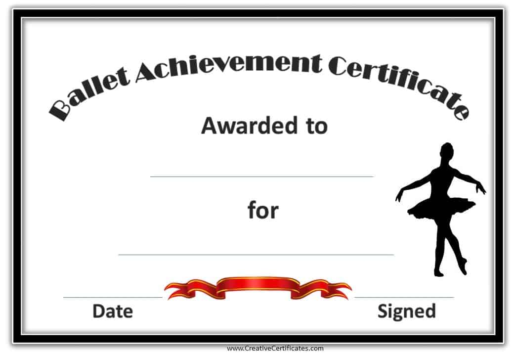 Free Dance Certificate Template - Customizable and Printable
