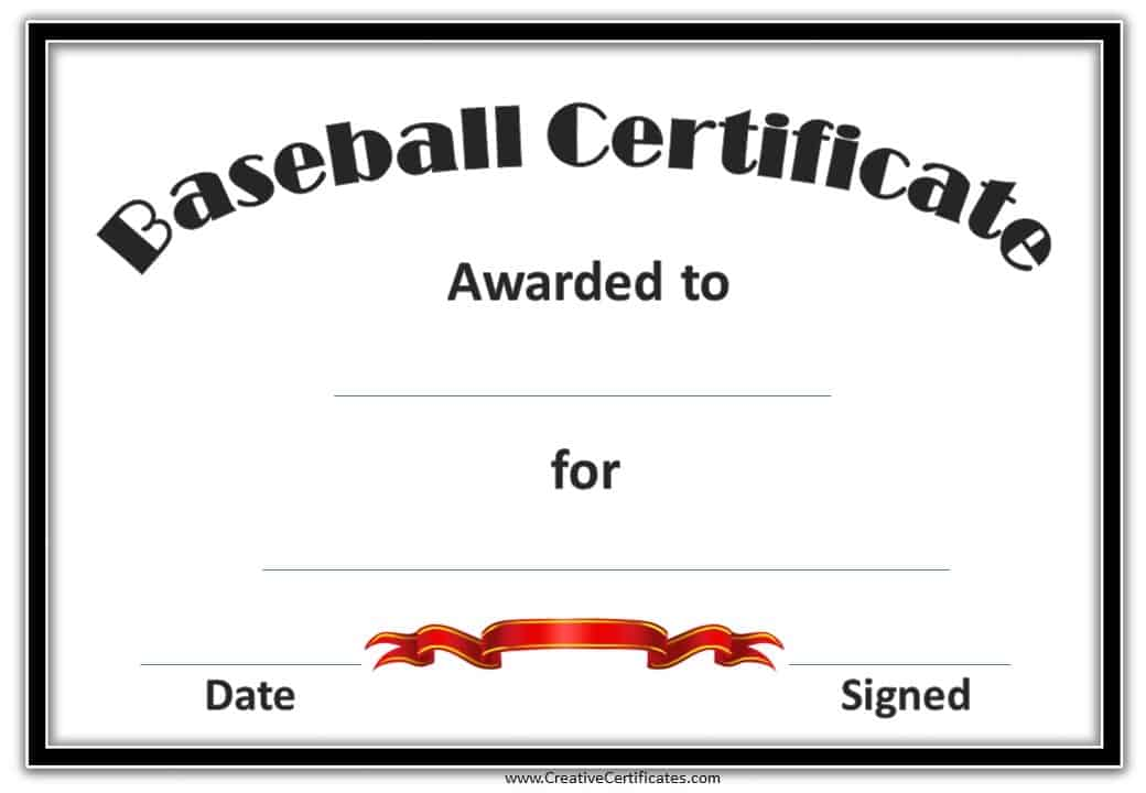 free editable baseball certificates customize online print at home