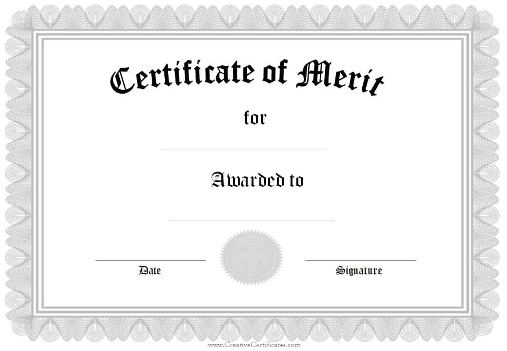 Free Formal Award Certificate Templates Customize Online